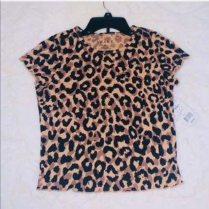 Cheetah print tee